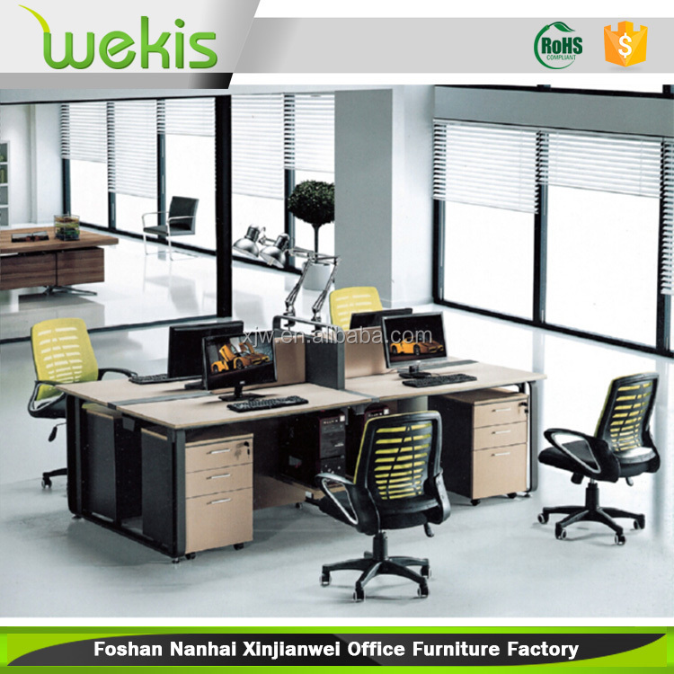 high quailty 4 person office desk used modern office 4 Person Office Desks Top View office furniture 4 person desk