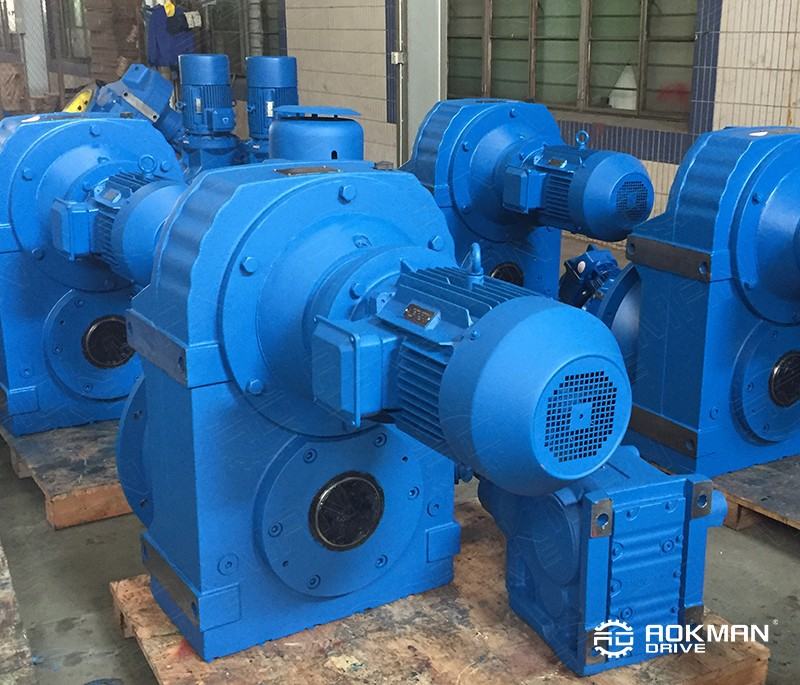 F Series parallel shaft helical reduction gearbox with 5hp motor electric motor speed reducer