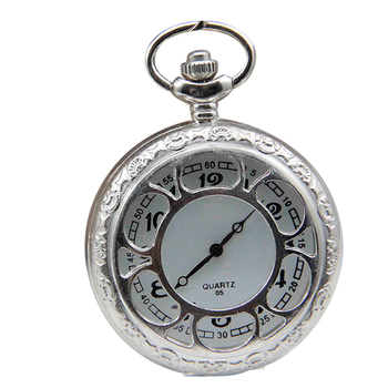Ladies antique Hollow Skeleton watch necklace Silver Ladies Pocket Watch With Hollow Case