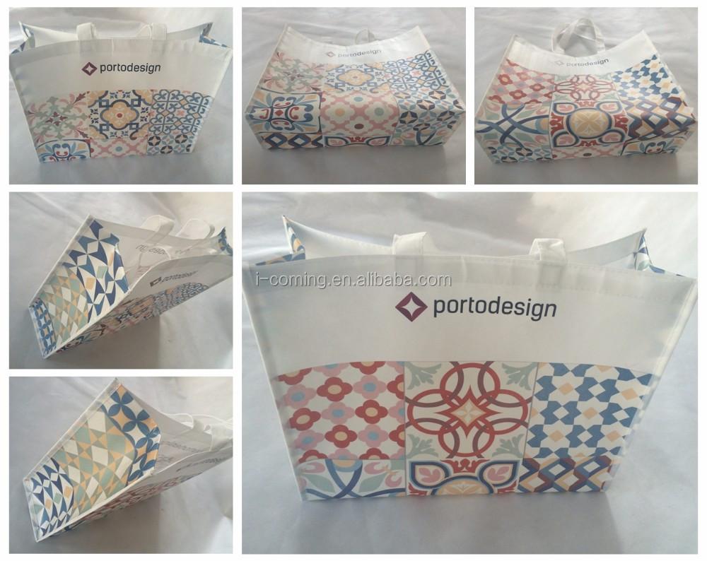 Promotional pp non-woven printed tote shopping bag wholesale/printable reusable non woven shopping bags with logo