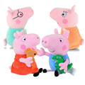 Genuine Peppa Pig Plush Toys 19cm Peppa George Pig Family Toys For Children Hobbies Dolls Stuffed