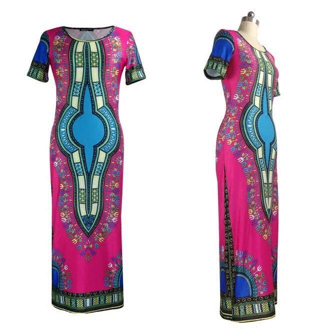 9a05809c6b Kenancy Indie Folk Bohemian Summer Dress Floral Print Women Split Dress  Maxi Feminino Vestidos de festa Casual Long Sundress