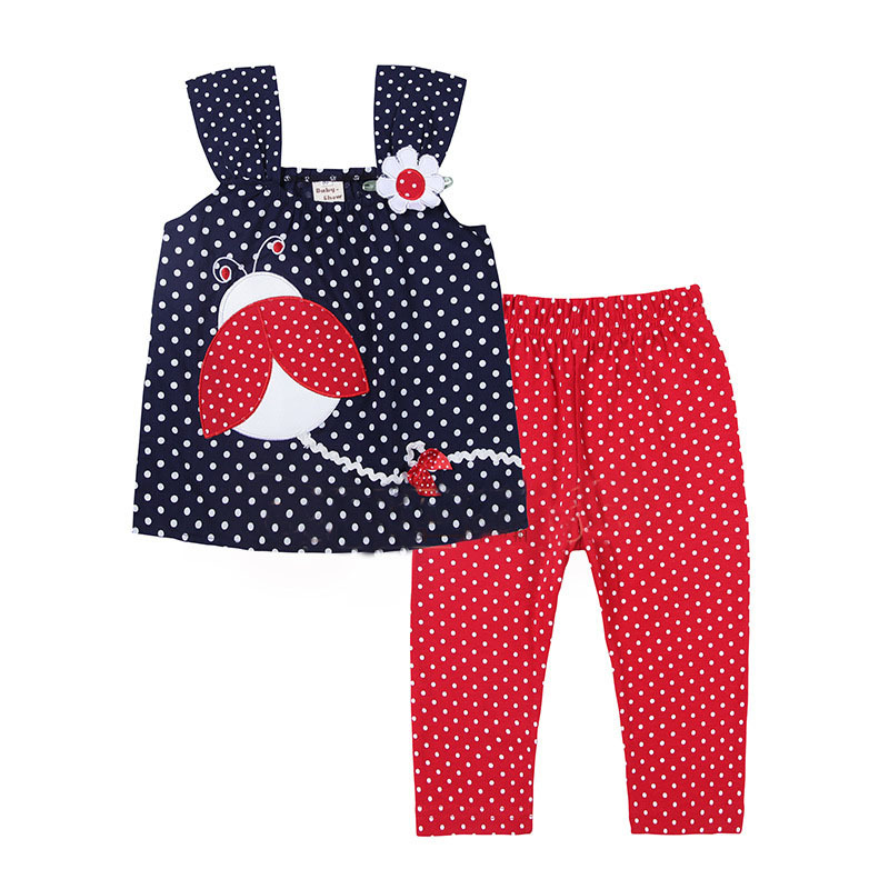 New 2015 Baby Girl Clothing Set Summer Cotton Toddler ...