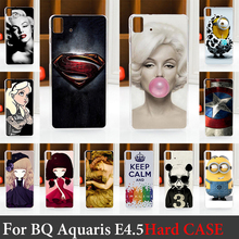 For BQ Aquaris E4.5 Case Hard Plastic Mobile Phone Cover Case DIY Color Paitn Cellphone Bag Shell  Shipping Free