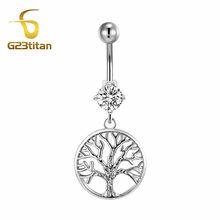 G23titan кольцо для живота, Сережки для пупка серебряного цвета, хирургические титановые стразы, ювелирные изделия для тела, пупок, пирсинг(Китай)