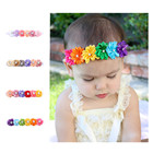 Tracy & Herry Factory Fancy Hair Sweet Flower Baby Hair Headband For Kids With Ribbon Rose flower hair band For baby Girls