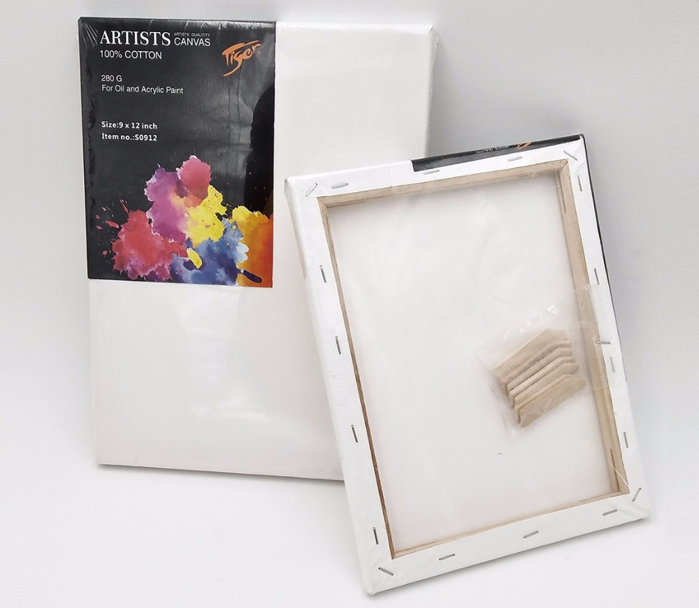 Wholesale wooden frame art blank stretched painting artist canvas