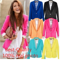 Hot Sale Fashion Jacket Blazer Women Suit Foldable Long Sleeves Lapel Coat Lined With Striped Single