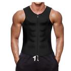 Men Waist Trainer Vest for Weightloss Hot Neoprene Corset Body Shaper Zipper Sauna Tank Top