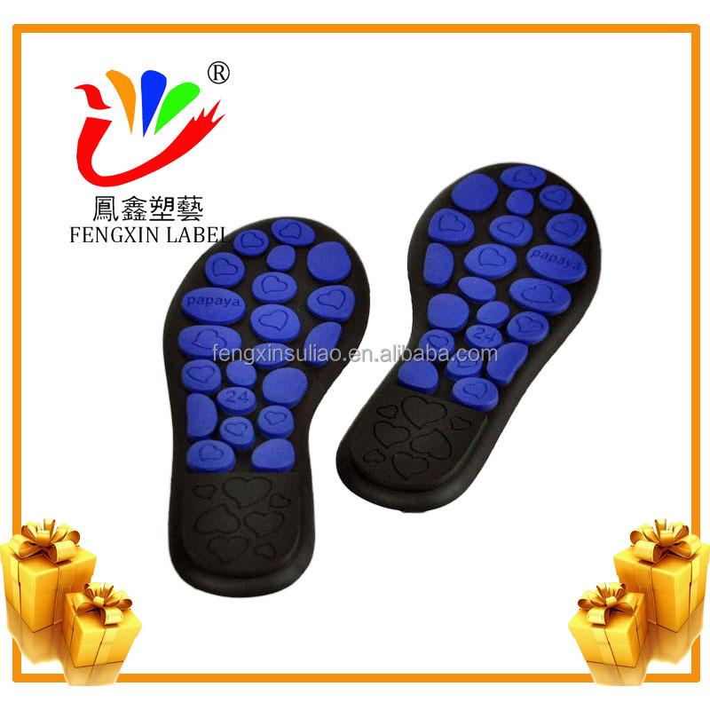 PVC bendable shoe sole for custom