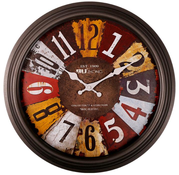16 inch quartz vintage shabby chi large european wall clock big designs