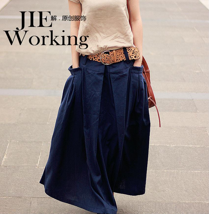 Popular Long Navy Blue Skirts Buy Cheap Long Navy Blue