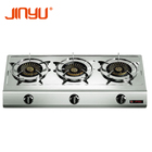 Burner Cooktop Gas Cooker Stove Sales Hot 3 Big Burner 0.4mm Stainless Steel Cooktop Kitchen Appliance Gas Stove/gas Cooker
