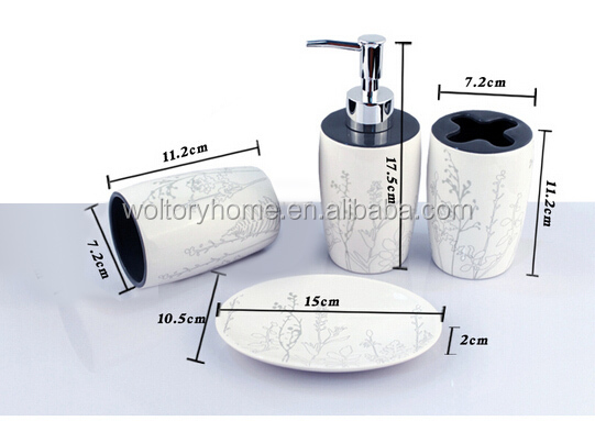Polyresin Bathroom Classical Gift Set Bath Accessory Set