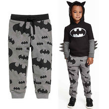 2015 New Casual Pants Sport Clothes Cool Boys Kids Cartoon Batman Trousers 2 7T