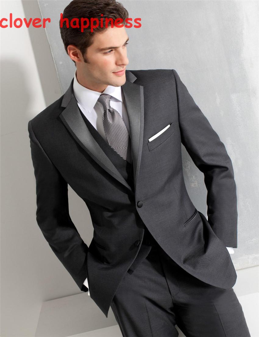 Compra men black slim fit tuxedo online al por mayor de