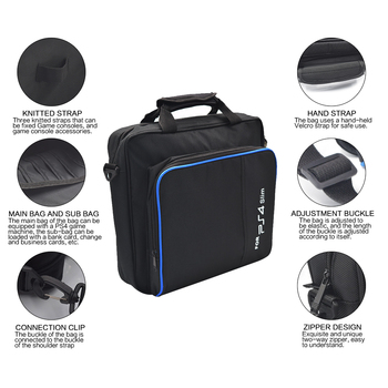 Hard Laptop ps3 super slim carrying Bag for playstation 4 security dualshock 4 carrying case