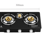 Burner Cooktops Stove Gas Cooktop Stove 3 Burner Household Glass Cooktops Table Top Gas Stove And Oven Gas Cooker 90mm/40mm
