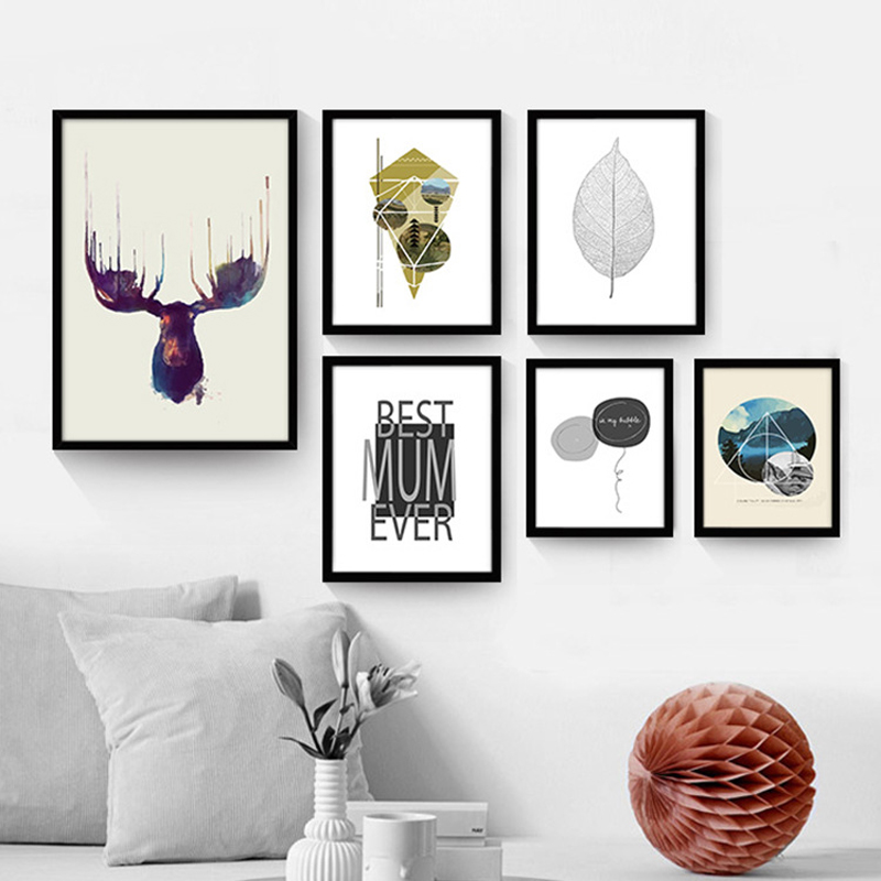 Nordic Small Fresh Home Design 4: The Living Room Decorative Painting And Modern Minimalist