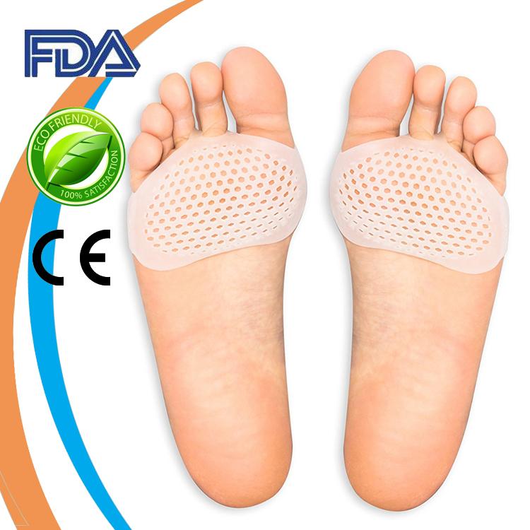 Лидер продаж на Amazon, силиконовый гелевый шарик для снятия боли в ногах, металлические прокладки для ног