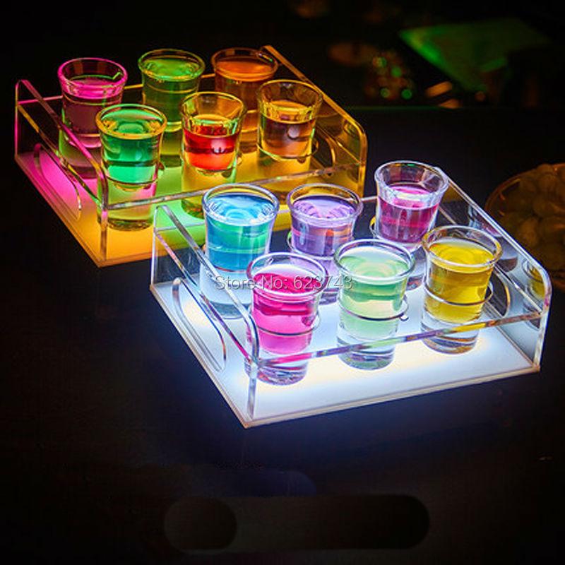 2019 6 12 Bottle Shot Glass Tray Bullet Cup Holder