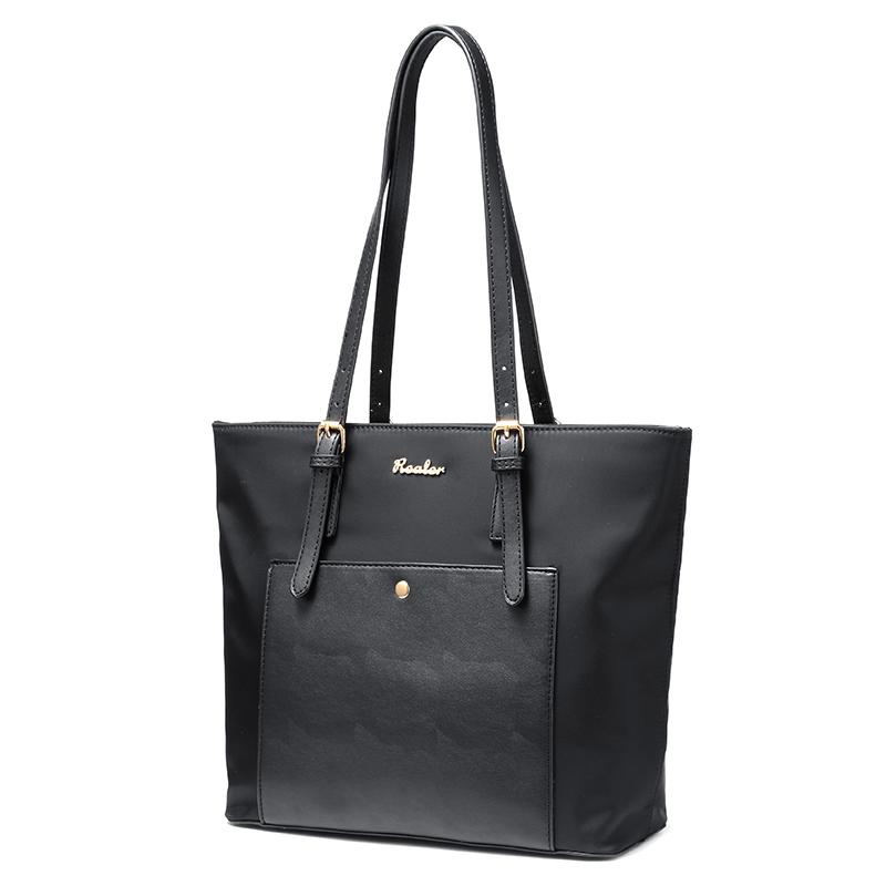 REALER женская сумка большая сумка-тоут Оксфорд женская сумка на плечо для женщин с карманами женские дизайнерские кошельки черный синий(Китай)