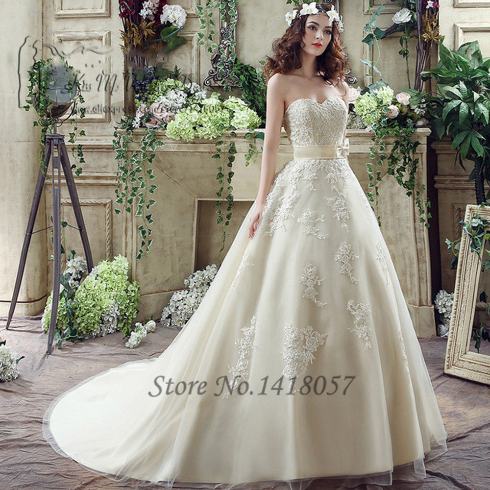 Champagne Vintage Wedding Dresses: Plus Size Ivory Champagne Vintage Wedding Dress Lace