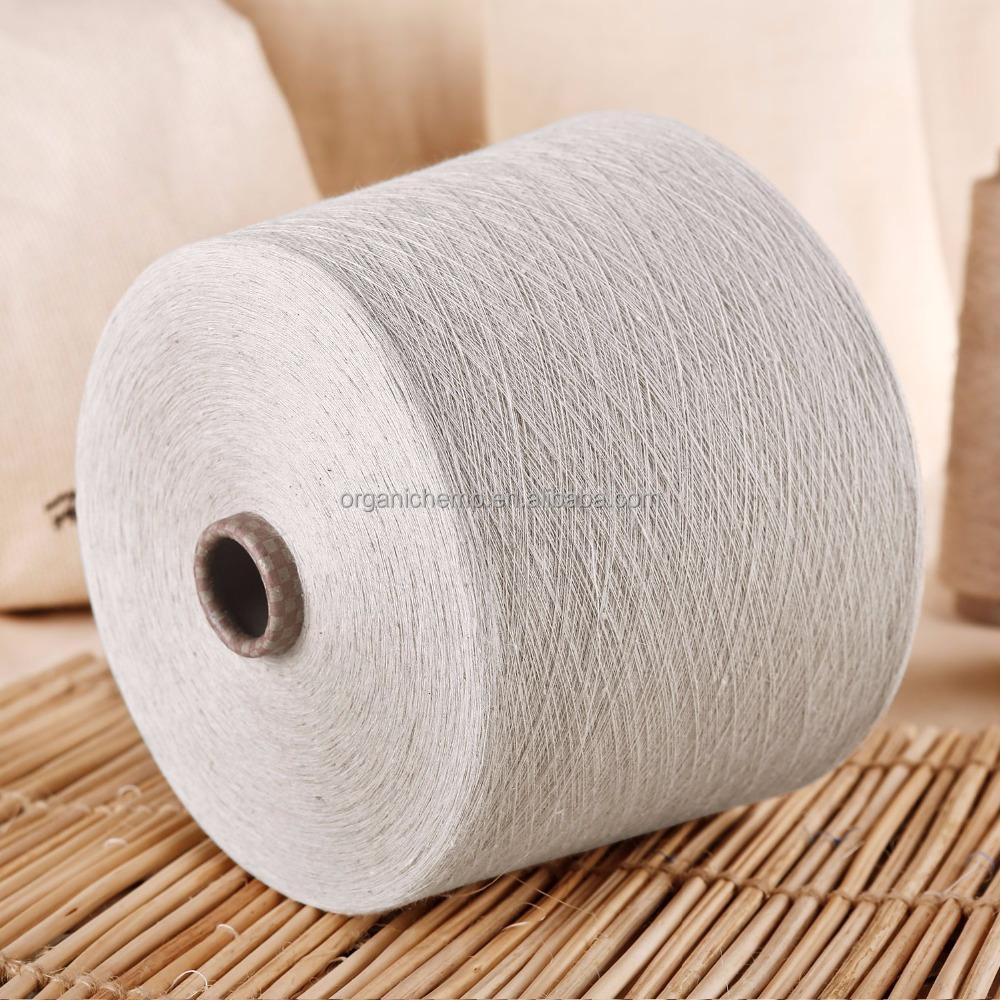Сертифицированная 100% Органическая льняная пряжа 24 нм для одежды