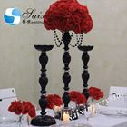 Beautiful Cheap black flower stand center pieces wedding decorations