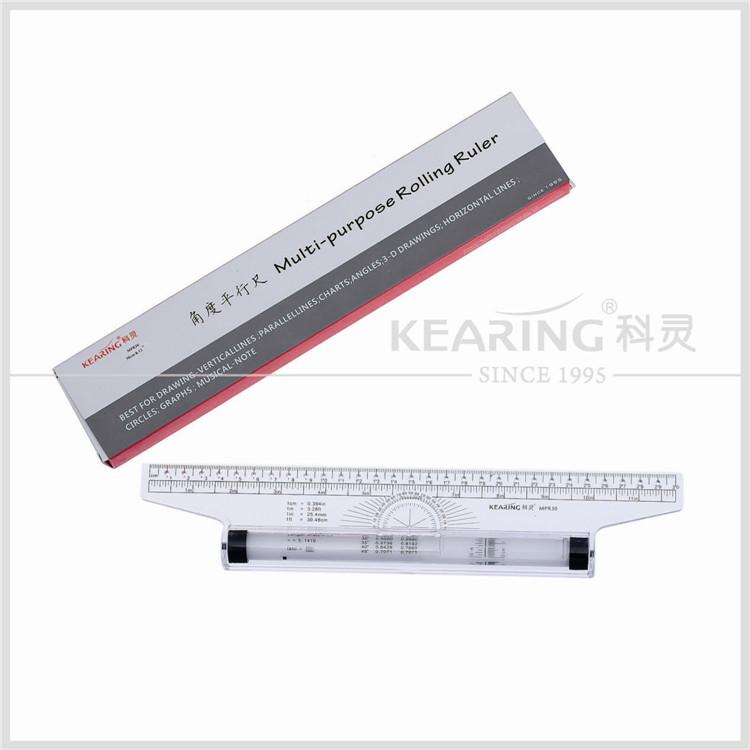 30cm Angle Parallel Ruler Roller Design Drawing Ruler Measuring Ruler Stationery