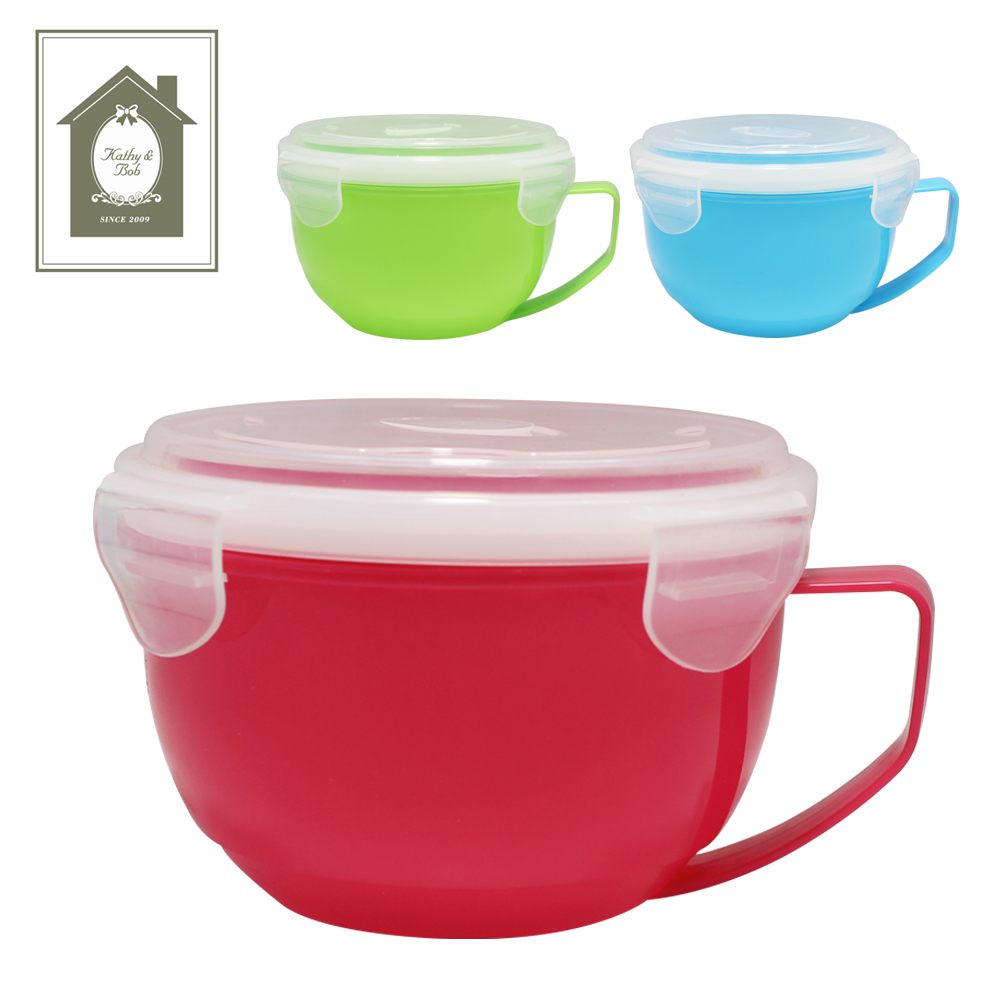 Plastic Microwave Soup Bowl With Lid