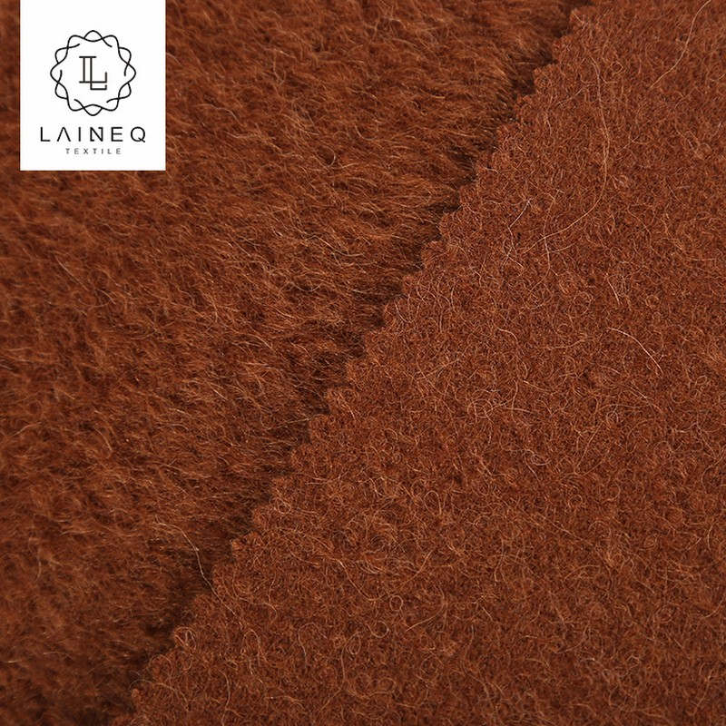 2018 popular high end baby suri alpaca loop yarns sherpa wool fabric for coat