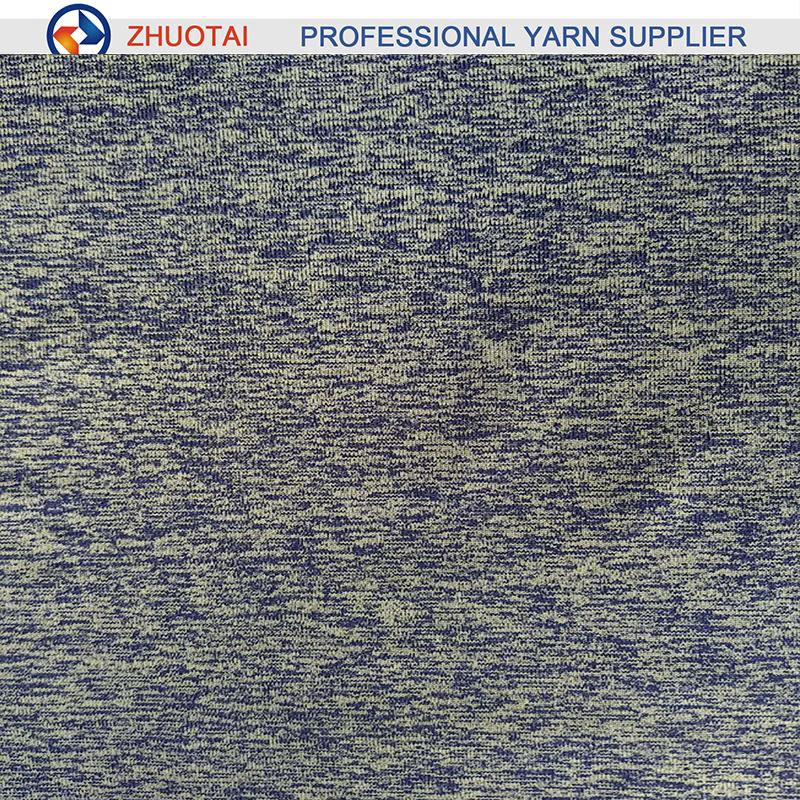 7070 Nylon plus polyester melange heather yarn for circle knitting