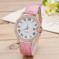 fashion casual ladies wrist watch women accessories watch of rhinestone watchcase Rome s number dial