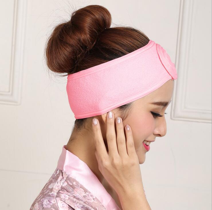 Регулируемая головная повязка для волос с пользовательским логотипом с вышивкой, красивая головная повязка для салона, для спа-макияжа