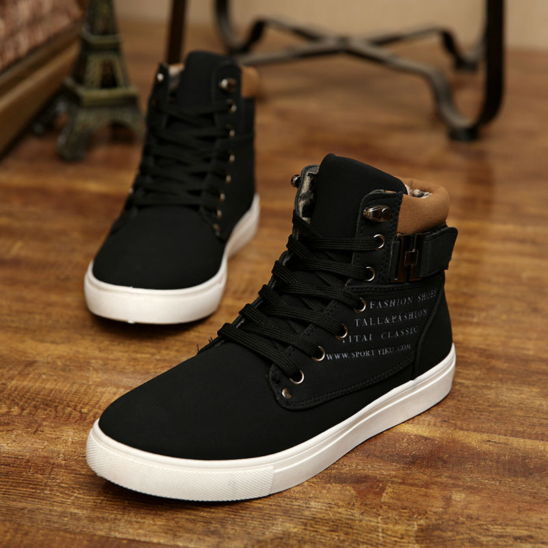 01802c3e8e3 Men Shoes Sapatos Tenis Masculino Male Fashion Spring Autumn Leather Shoe  For Men Casual High Top Shoes Canvas Sneakers