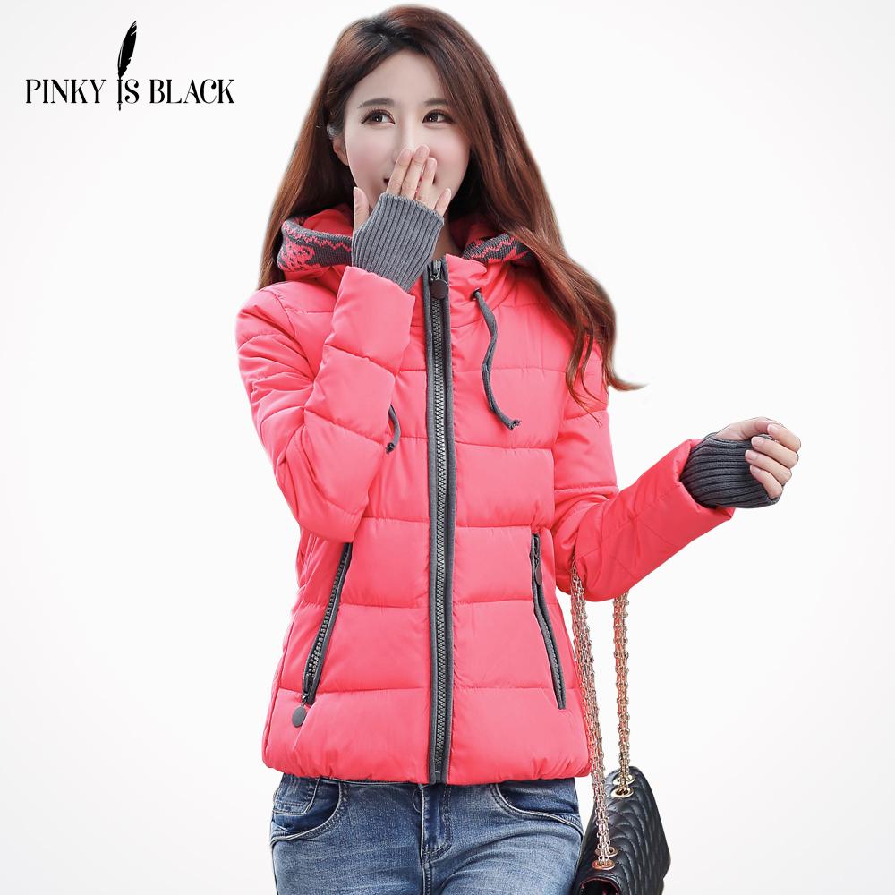 winter jacket women 2016 fashion slim short cotton padded