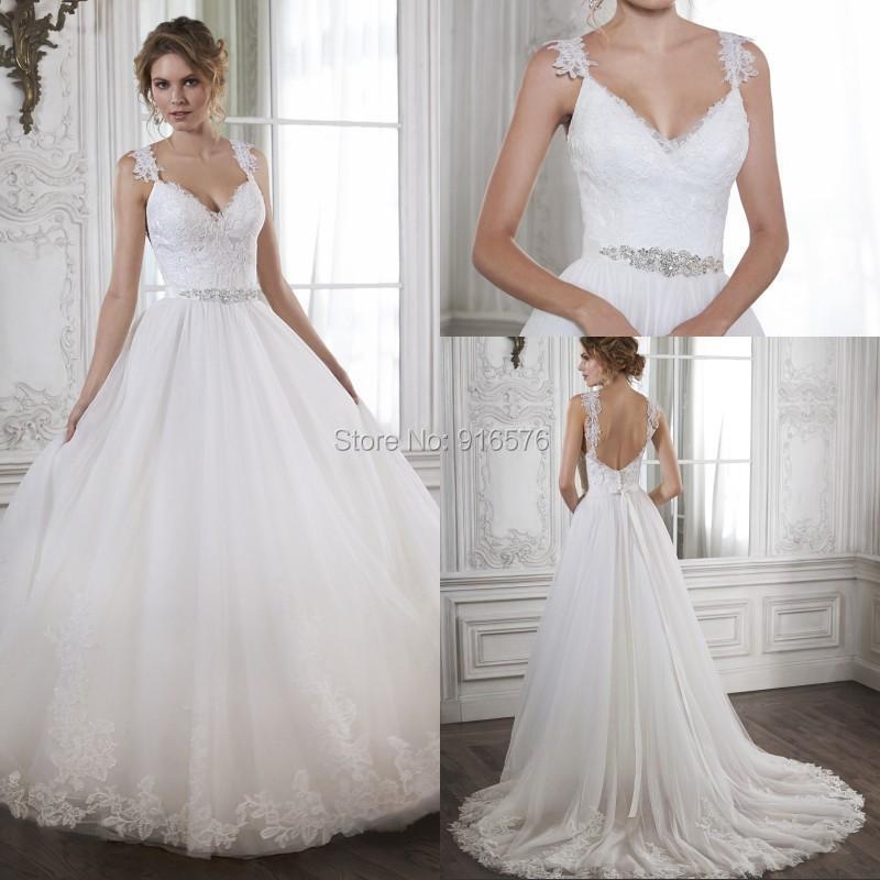 Cheap Plus Size Ball Gown Wedding Dresses: Aliexpress.com : Buy 2015 Wedding Dresses Lace Appliques