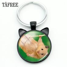 Брелок для хомяка TAFREE, Модный черный брелок для ключей, брелок для лучшего друга, для мужчин и женщин, металлические подвески, брелок для авт...(Китай)