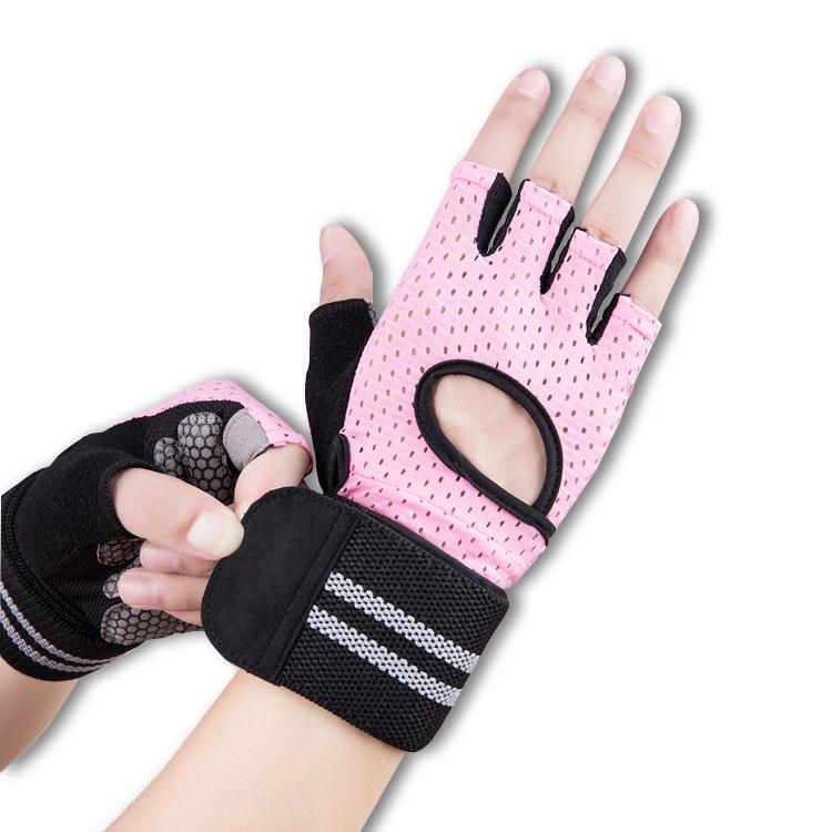 Лучшая цена, индивидуальный логотип, дышащие противоскользящие женские спортивные перчатки для спортзала