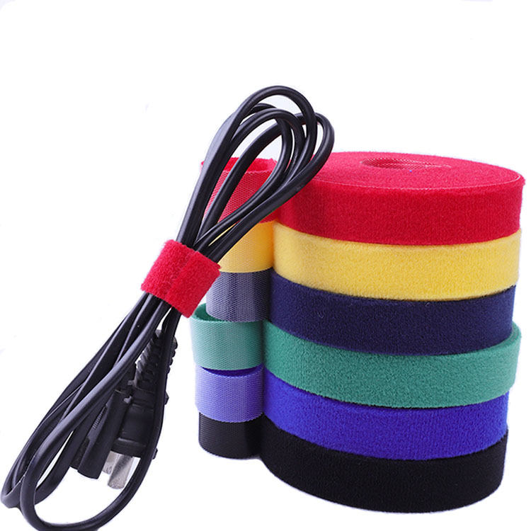 Hot sell custom color and logo nylon double sides hook and loop fastener organizer tape