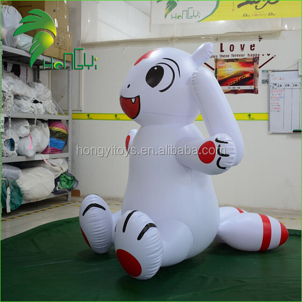 Customized PVC Inflatable Cute Rabbit/ Gient Inflatable animals Cartoon/Inflatable White Rabbit