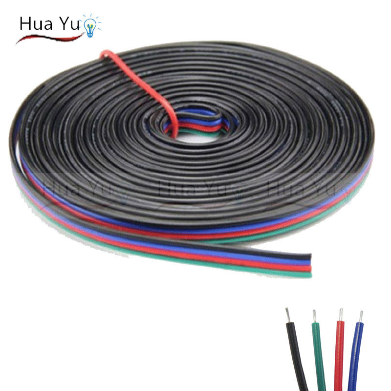 Do It Yourself Home Design: 10m 4pins Tinned Copper Wire,RGB Extension Cable Wire