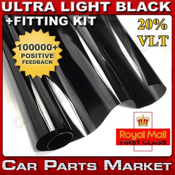 dark black vlt 20 car window tint film uv protection side window from. Black Bedroom Furniture Sets. Home Design Ideas