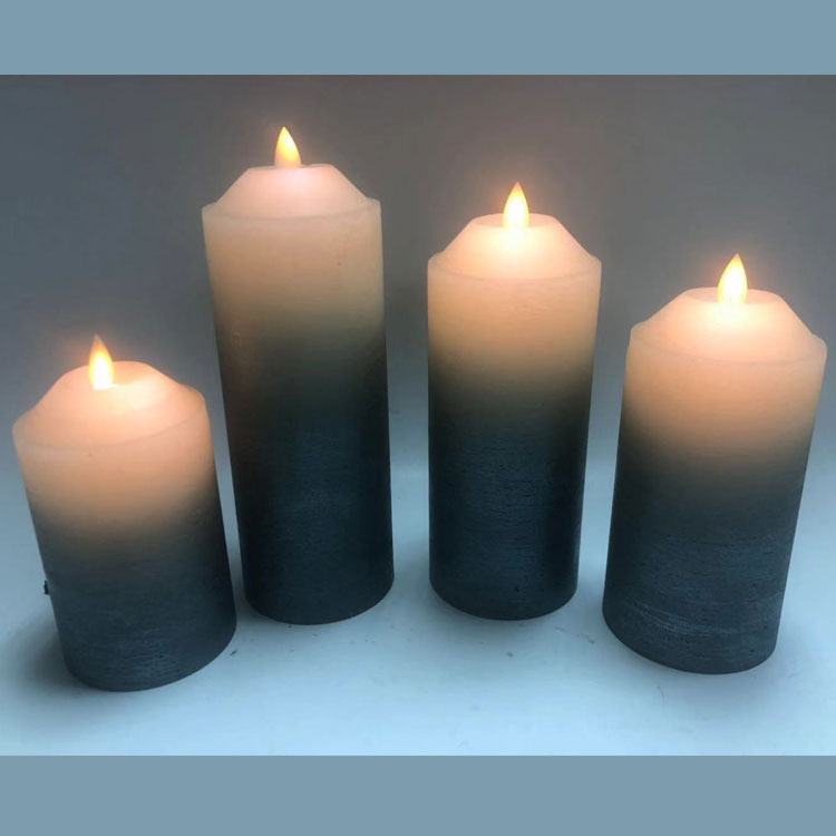Moving Wick Flameless LED Candle Drawing Paraffin Wax Candle