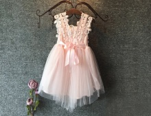 High Quality 2015 XMAS Baby Girl Princess Party Pearl Lace Tulle Flower Gown font b Fancy