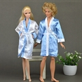 2pcs set Bedroom Pajamas Robe Nighty Bathrobe Clothes For Barbie Dolls Robe Shorts For Ken BJD