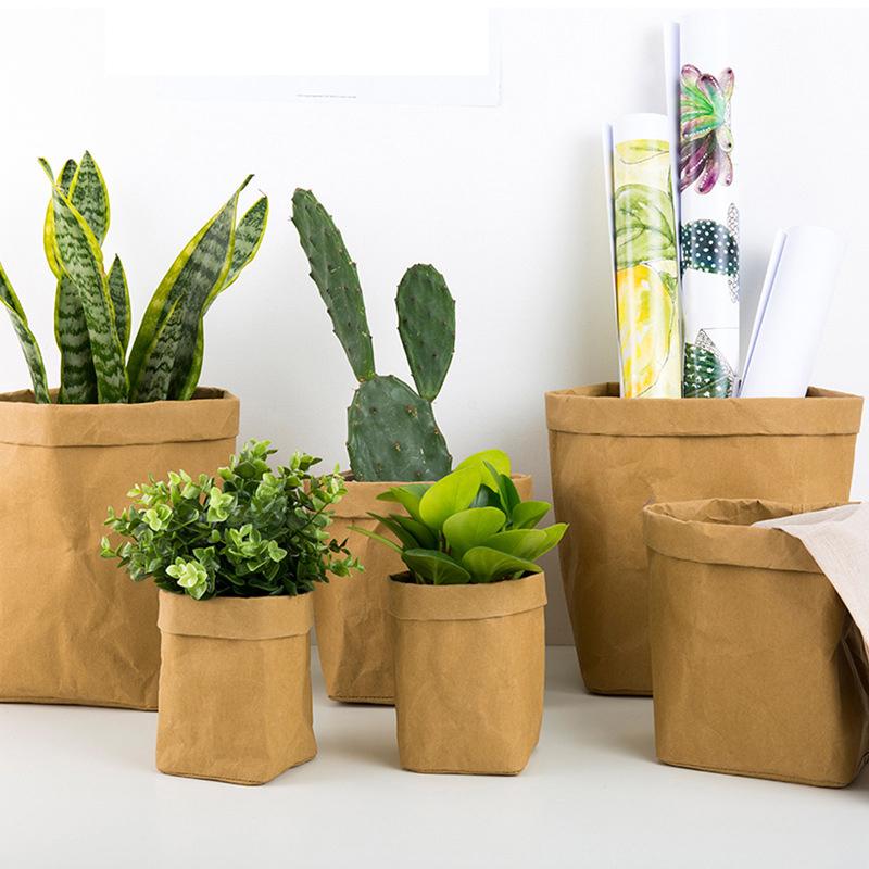 Моющийся крафт-бумажный плантатор, пакет для растений из крафт-бумаги, пакет для растений из высококачественной бумаги