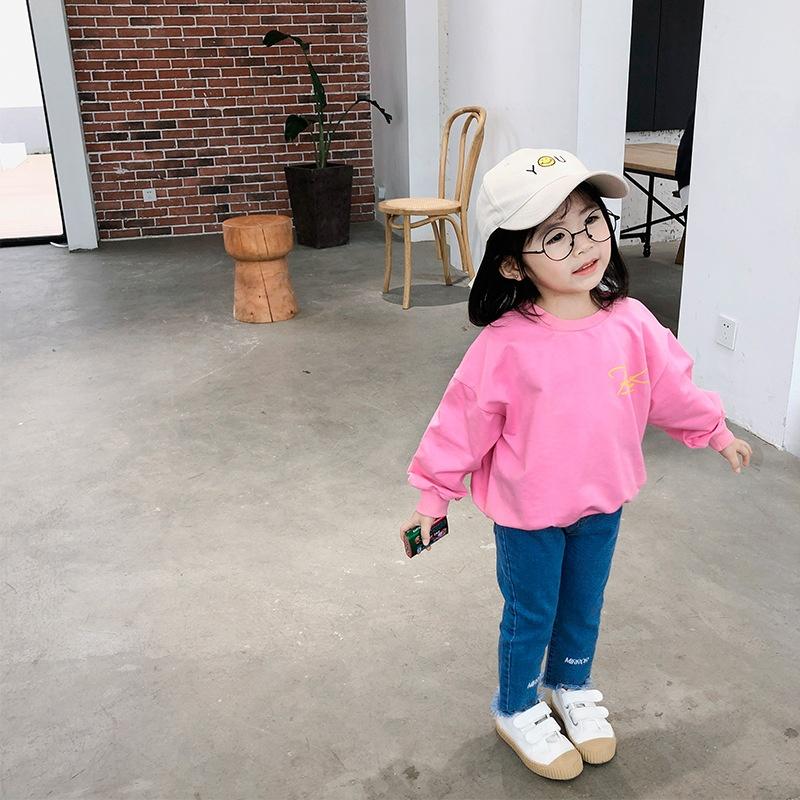 B60028A 2019 новая детская толстовка для девочек-подростков Корейская версия Детская толстовка с принтом
