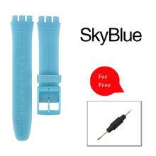 17 мм 19 мм 20 мм Мягкие силиконовые прозрачные браслеты для часов образец ремешка для мужчин женщин мужчин ультра-тонкий ремешок для часов(China)